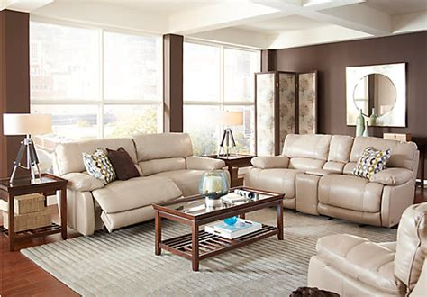 cindy crawford auburn hills taupe pc reclining living