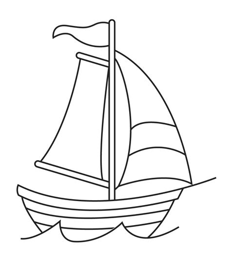 How To Draw A Pilgrim Boat by Ship Drawing Easy At Getdrawings Free For Personal