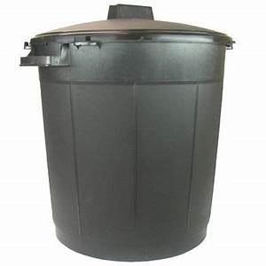 Poubelle 120 Litres : poubelle 80l noire couvercle castorama ~ Melissatoandfro.com Idées de Décoration