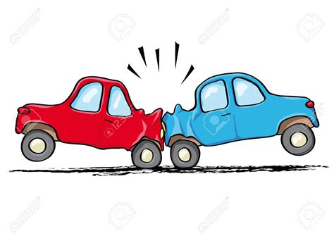 cartoon car crash crash clipart car wreck pencil and in color crash