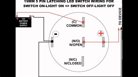Led Latching Switch Wiring Diagram Youtube