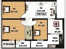 1258 sq ft 3 BHK 2T Apartment for Sale in Durai Foundation