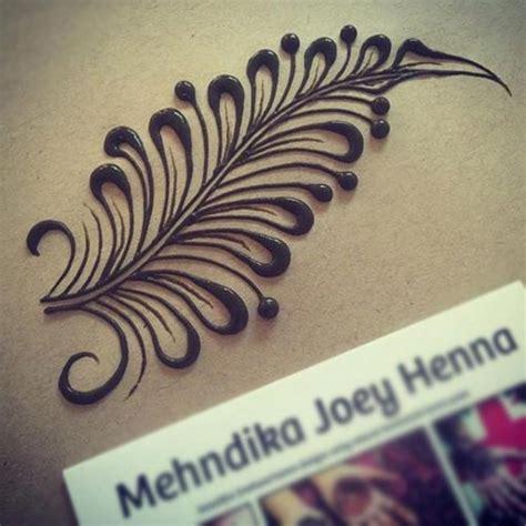 beautiful feather henna designs   love