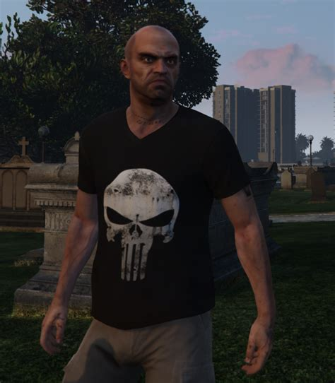 Kaos Punisher 5 trevor punisher shirt gta5 mods