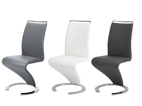 lot de 2 chaises en simili aux courbes renversantes twizy chaises vente unique ventes pas