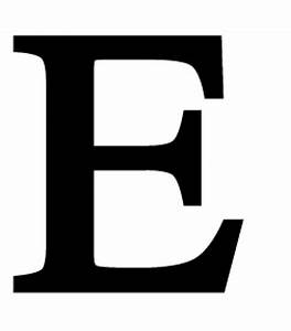 letter e large With big letter e