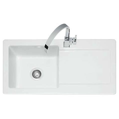 ceramic kitchen sinks and taps caple foxboro 100 ceramic sink and washington tap pack 8092