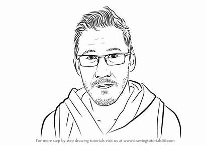 Markiplier Draw Drawing Youtubers Step Drawings Learn