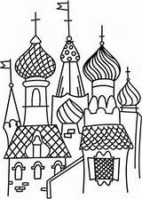 Basil Coloring St Urbanthreads Embroidery Colouring Pages Cathedral Hand Drawing Eastern Designs Kremlin Moscow Draw Urban Threads Saint Russia Stitch sketch template