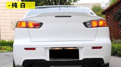 Osmrk Abs Tail Wing Rear Spoiler Lip For Mitsubishi Lancer ...