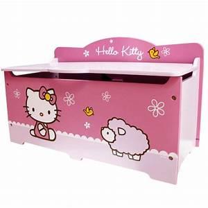 Coffre Jouet Bebe : coffre jouets hello kitty grand mod le mobilier chambre ~ Preciouscoupons.com Idées de Décoration