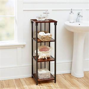 ava bathroom collection 4 tier floor shelf oil rubbed With ava bathroom furniture
