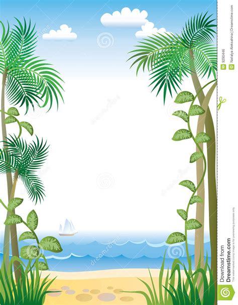 tropic border stock vector image  paradise coastline