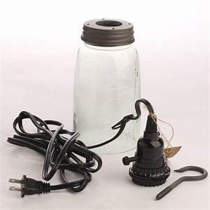 Mason Jar Pendant Lamp Kit - Lamp Making - Basic Craft Supplies