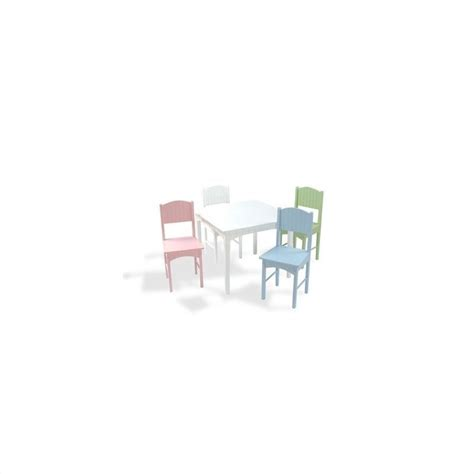 Office Supplies Nantucket by Kidkraft Nantucket Table And 4 Chair Set In Pastel 26101