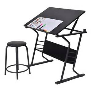 table 224 dessin inclinable avec tabouret multifonctionnel table bureau r 233 glable achat vente