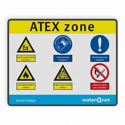 Atex Zone Bord Pbm Opdruk Rechthoek Colour