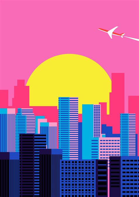 cityscape sunset background   vectors