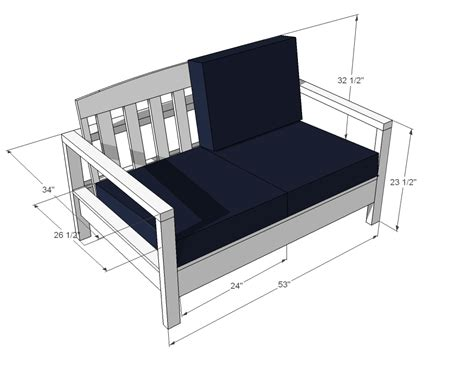 loveseat plans white simple white outdoor loveseat diy projects