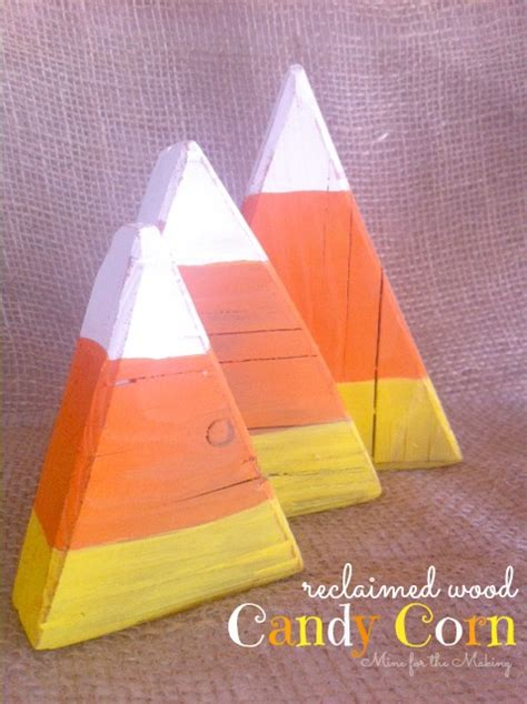 reclaimed wood candy corn    making