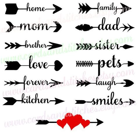 Download word arrows svg now on creative fabrica. Arrow Words SVG - Family Life Arrows - Digital Cutting ...