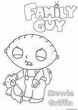 Coloring Guy Stewie Printable Griffin sketch template