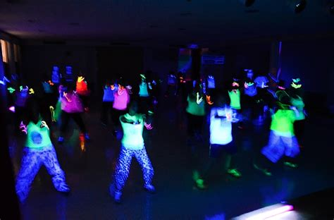 black light glow party new years zumba glow party the chic life
