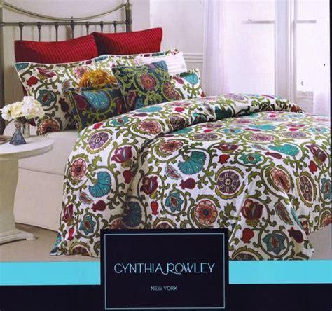 Cynthia Rowley Bedding King by Cynthia Rowley Moroccan Ruby Turquoise Green 3pc King