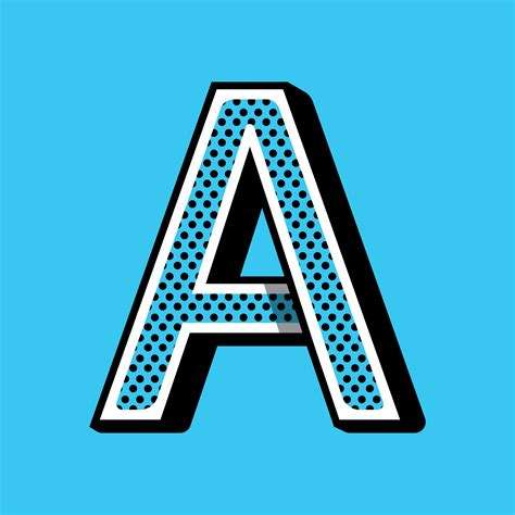 Letter A typography - Download Free Vectors, Clipart ...