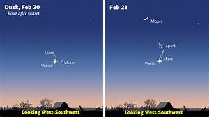 Close Pairing of Venus and Mars on February 20-21 - Sky ...