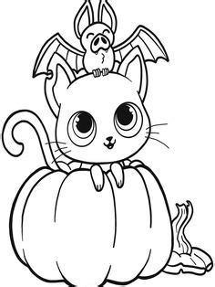 Bat with pumpkin for Halloween, Coloring page   Pumpkin