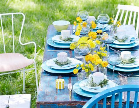 tischdeko selber machen sommer tischdeko sommer freiluft tafel bild 28 living at home