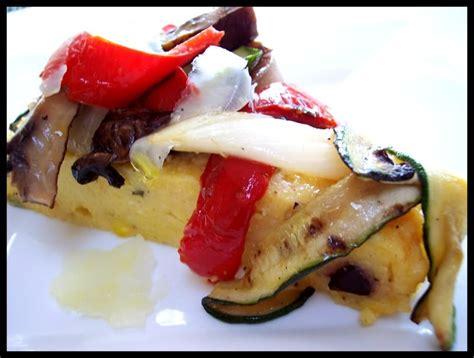 cuisine polenta grilled vegetable polenta tart cuisine crops