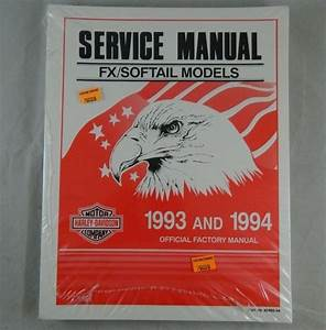 Harley Davidson Official Factory Service Shop Manual 1993 Softail Repair  With Images