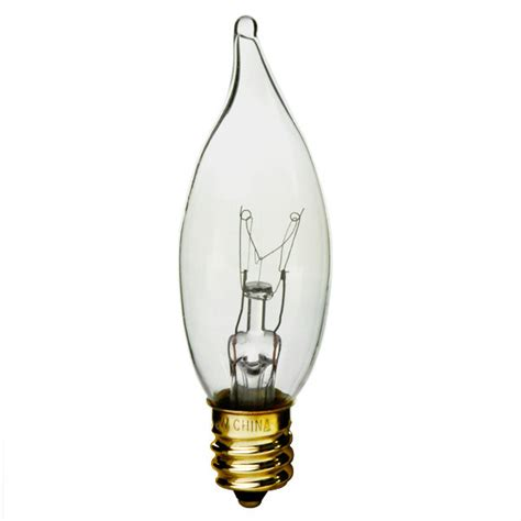 15 Watt Chandelier Light Bulbs by 15 Watt Clear Bent Tip Candelabra Bulb