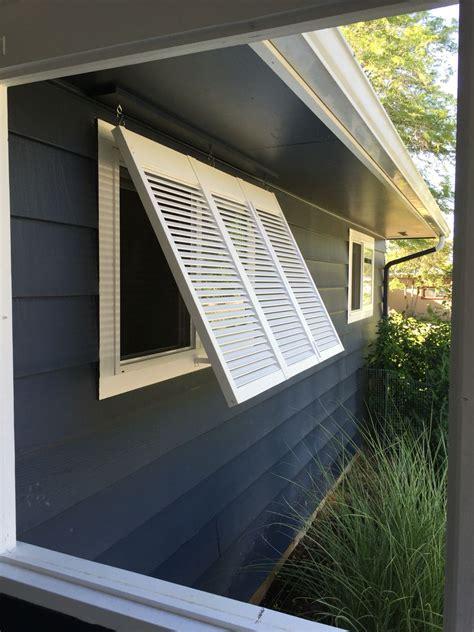 diy removable bermuda shutter  west facing window