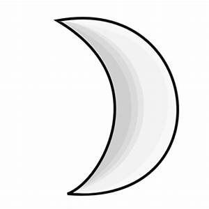 Weather Symbols: Moon (silver) clipart, cliparts of ...