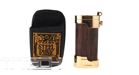 slug style  mechanical box mod wood brass
