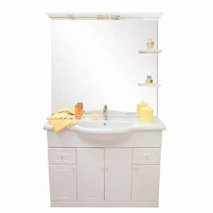 MAJORCA Salle De Bain Complte Simple Vasque 110cm Blanc