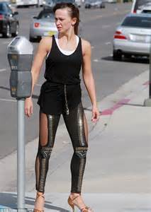 Karina Smirnoff Shows Off Her Toned Legs In Sheer Tights