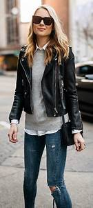 19 ways to wear a leather jacket outfit - fashion-women.com