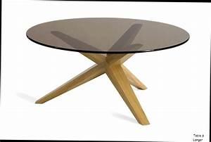 table basse ronde bois et verre valdiz With roche bobois table ronde