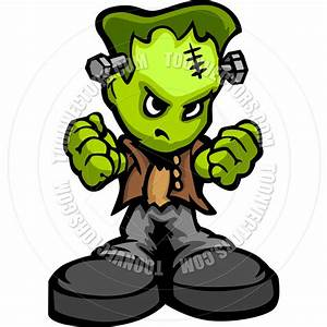 Tough Guy Cartoon Frankenstein Monster Vector Graphic by ...