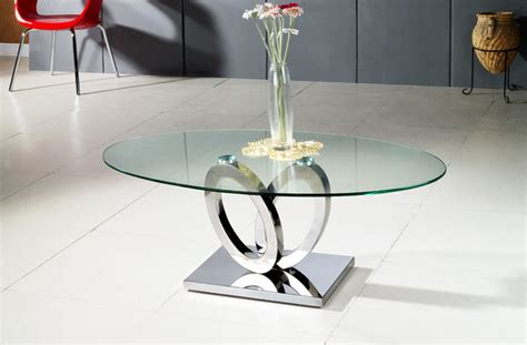 Unfollow oval glass coffee tables to stop getting updates on your ebay feed. MODERN CLEAR GLASS AND CHROME OVAL COFFEE TABLE BARI - Modern - Coffee Tables - san francisco ...