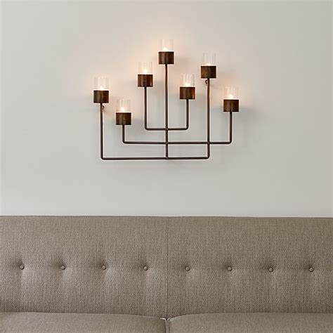 surita wall tea light candle holder crate and barrel