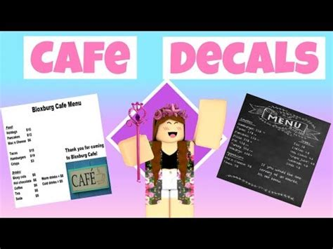 Cute Cafe Menu For Bloxburg Chilangomadrid Com
