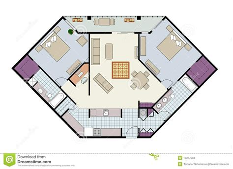 floor plan   bed condo  den furniture stock