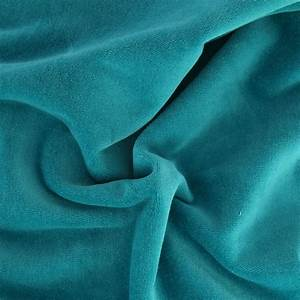 Tissu Velours Bleu Canard : tissu velours ras bleu canard x10cm perles co ~ Teatrodelosmanantiales.com Idées de Décoration