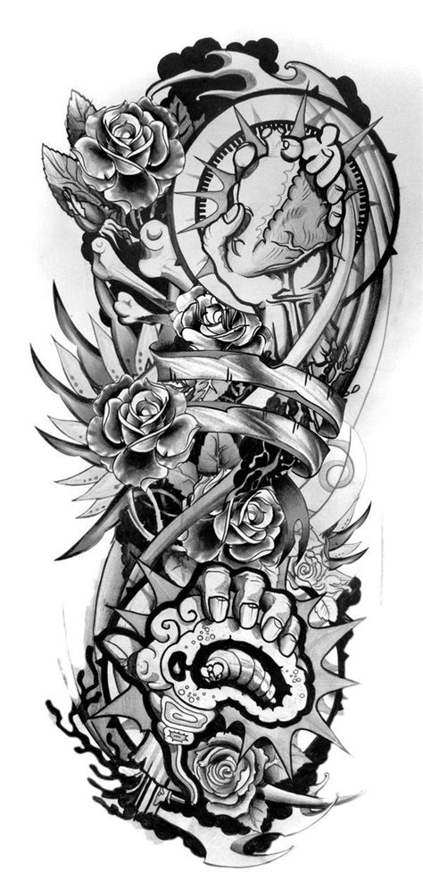 Sleeve Tattoo Designs Drawings On Paper Design Sleeve Tattoo 2 | Tattoos | Pinterest | Sleeve