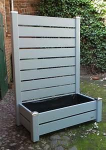 Mobiler sichtschutz mit pflanzkasten h190 blumenkasten for Mobiler sichtschutz terrasse